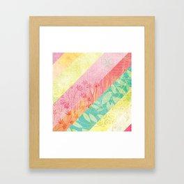 Whim Stripes Framed Art Print