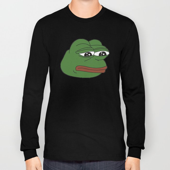 b753321732 Super Rare Pepe The Frog! Long Sleeve T-shirt by anthonykun
