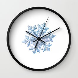 Real snowflake - Hyperion white Wall Clock