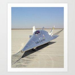 X-24B on Lakebed Art Print