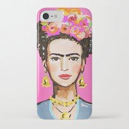 Pink Glow Frida iPhone Case
