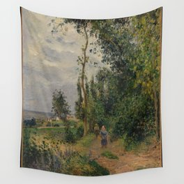 Camille Pissarro - Côte des Grouettes, near Pontoise (1878) Wall Tapestry