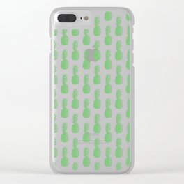 Pineapples - Green #724 Clear iPhone Case