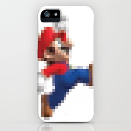 Super Mario Pixel Poster iPhone Case