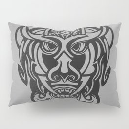 Vicious Tribal Mask silver frosty 007 Pillow Sham