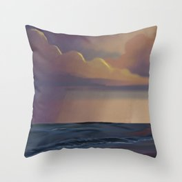 The Colorful Sea Throw Pillow