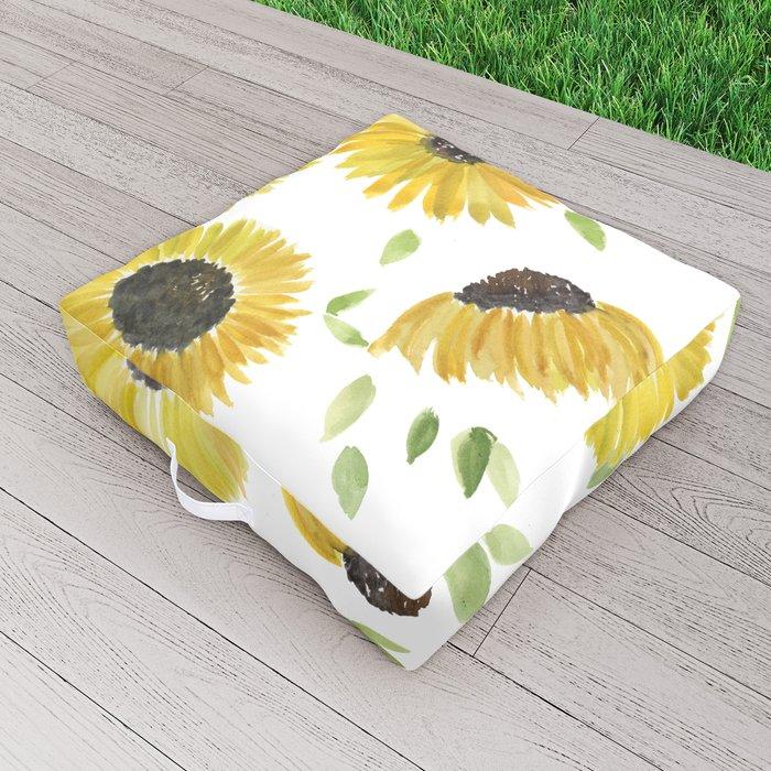 Sunflowers Outdoor Floor Cushion