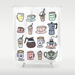 Cafe Friends Shower Curtain