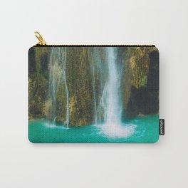 Tropical Waterfall | Fine Art Nature Photography | Wanderlust Art Print | Hidden waterfall Landscape, Travel Photography Art Print Carry-All Pouch