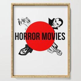 Horror Movies Art Serving Tray