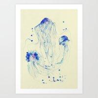 you wish jellyfish Art Print