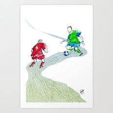 Seattle Sounders Tiny Line Art Art Print