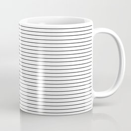 The Piano Black and White Keyboard with Horizontal Stripes Coffee Mug