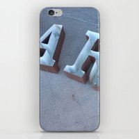 lettering iPhone & iPod Skins featuring Lettering by Jenna Allensworth