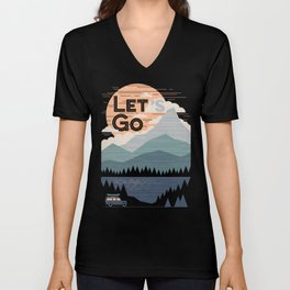 Let's Go Unisex V-Neck