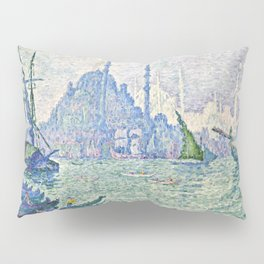 "Paul Signac ""La Corne d'Or, les minarets"" Pillow Sham"
