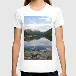 Reflection of the Red Mountains on Crystal Lake T-shirt