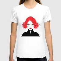 black widow T-shirts featuring Black Widow by Irene Flores