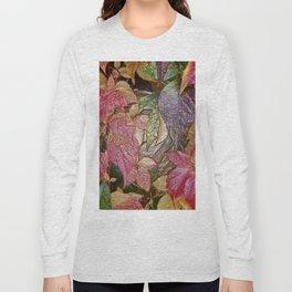 Glossy autumn leaves Long Sleeve T-shirt