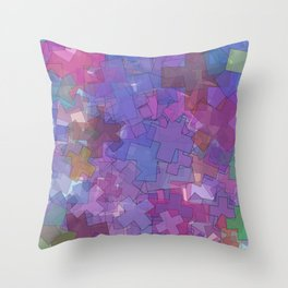 colorful crosses Throw Pillow