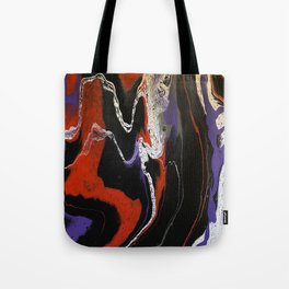 Pour Art 5 (Black, Red, Purple, White and Gry) Tote Bag