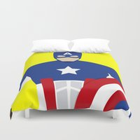 captain silva Duvet Covers featuring Captain by Mi Absurda Osadía