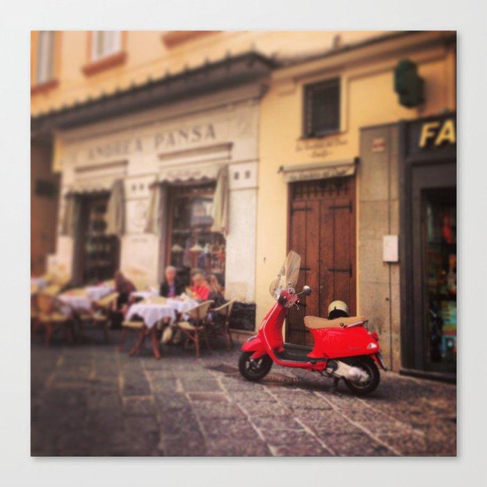 Italy-Vintage Vespa Photo Canvas Print