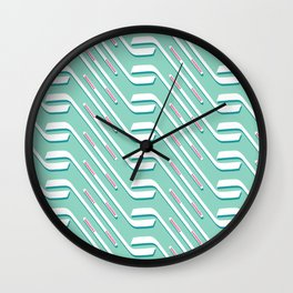 Sticks On Ice Blue #society6 #hockey #sport Wall Clock