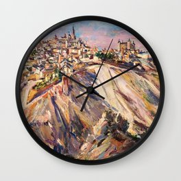 Toledo, Spain by David Bomberg Wall Clock