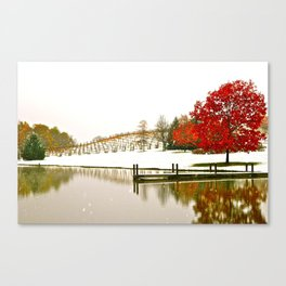 Vineyard Dock Canvas Print