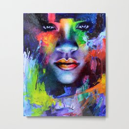 Rihanna Colors Metal Print