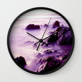 Purple Jalama Beach, California Wall Clock