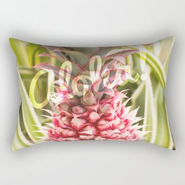 Pink Pineapple Aloha! Rectangular Pillow