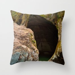 Gobble Rock Cave Throw Pillow