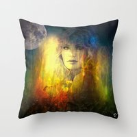 "sandra dieckmann Throw Pillows featuring "" Sandra ""  by shiva camille"