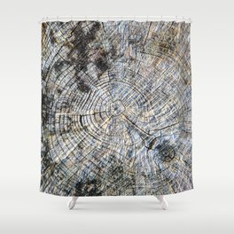 Old Tree Rings Shower Curtain
