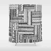 tribal Shower Curtains featuring Tribal  by Ale Ibanez