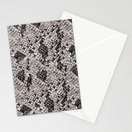 Black and Gray Snake Skin Stationery Cards