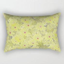 Chartreuse Gazanias Rectangular Pillow