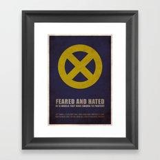 X-Men (Super Minimalist series) Framed Art Print