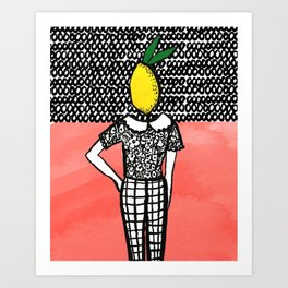 Lemon Head Art Print