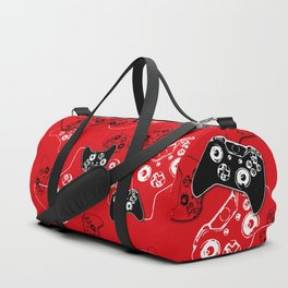 Video Game Red Duffle Bag