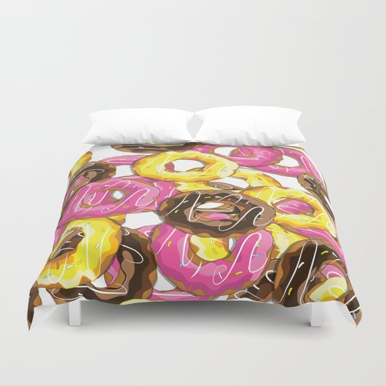 Delicious donut pattern Duvet Cover