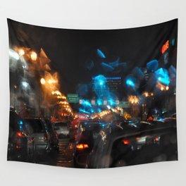 RAINY NIGHTS Wall Tapestry