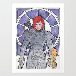 Commander Shepard Art Print