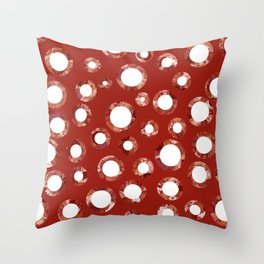 Wine Stain Pattern Throw Pillow