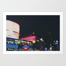 London nightlife ... Art Print