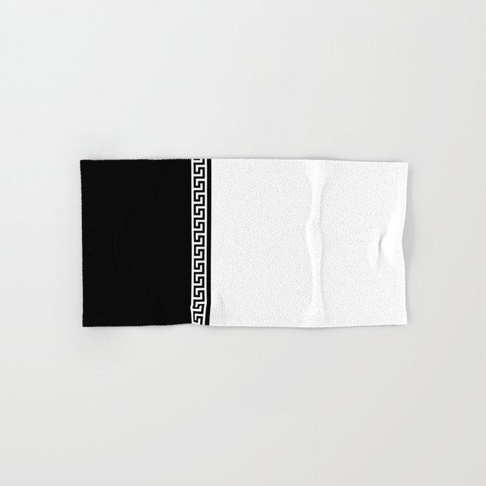 Greek Key 2 White And Black Hand