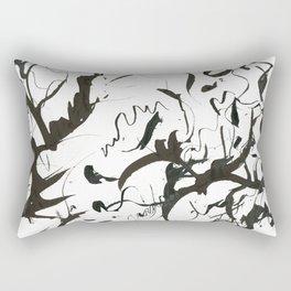 Inky Palms Rectangular Pillow
