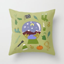 Cradle Mountain Snow Globe Throw Pillow